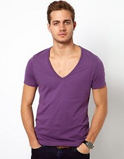 ASOS T-Shirt With Deep V Neck