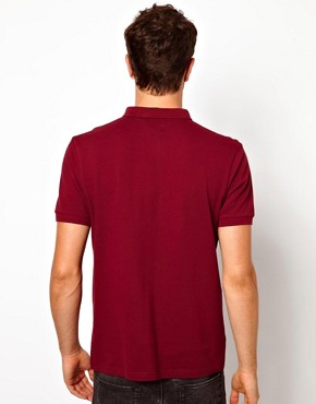 Image 3 ofASOS Polo In Pique Jersey With Button Down Collar