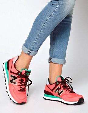 Image 3 ofNew Balance Windbreaker Neon Trainers