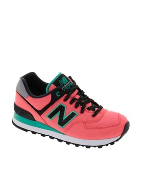 Image 1 ofNew Balance Windbreaker Neon Trainers