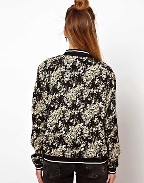 Image 2 ofGlamorous Bomber Jacket In Oriental Print