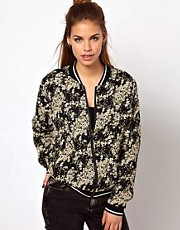 Glamorous Bomber Jacket In Oriental Print