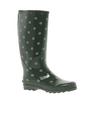 Cath Kidston Spot Sage Rainboots