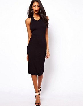 Image 4 ofASOS Midi Bodycon With Lace Trim Back