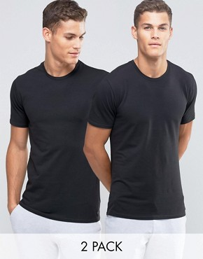 Image 1 ofCalvin Klein 2 Pack Crew T-Shirts