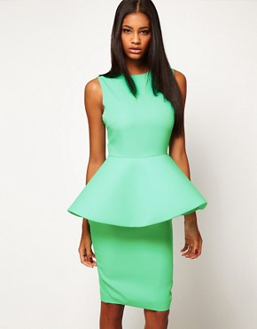 Image 1 ofAqua New Element Structured Peplum Dress