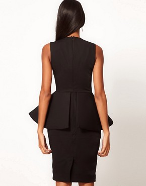 Image 2 ofAqua New Element Structured Peplum Dress
