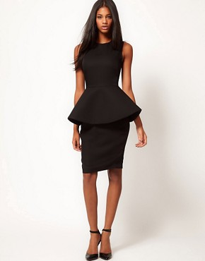 Image 4 ofAqua New Element Structured Peplum Dress