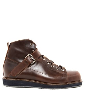 Image 4 ofT&amp;F Slack Square Toe Oxblood Boots