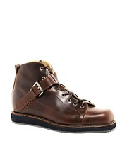 T&amp;F Slack Square Toe Oxblood Boots