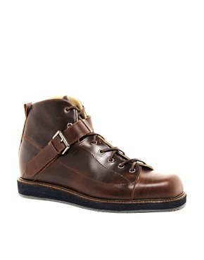 Image 1 ofT&amp;F Slack Square Toe Oxblood Boots