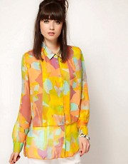 Cheap Monday Patterned Layered Front Shirt