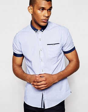 Brave Soul Shirt with Contrast Detail