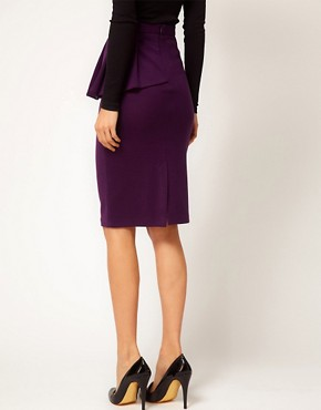 Image 2 ofASOS Side Peplum Pencil Skirt