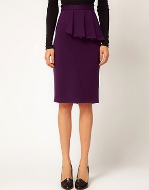 Image 4 ofASOS Side Peplum Pencil Skirt