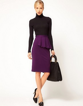 Image 1 ofASOS Side Peplum Pencil Skirt