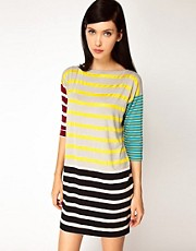 Antipodium Syntax Dress in Patchwork Stripe