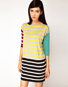 Image 1 ofAntipodium Syntax Dress in Patchwork Stripe
