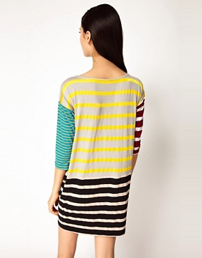 Image 2 ofAntipodium Syntax Dress in Patchwork Stripe