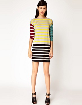 Image 4 ofAntipodium Syntax Dress in Patchwork Stripe