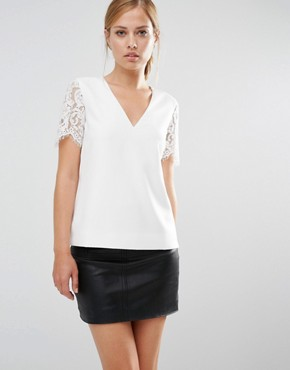 Ted Baker Jessin Lace Sleeve Top