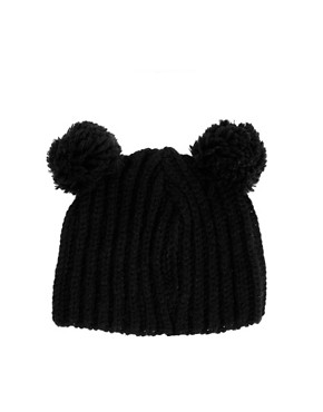 Image 2 ofASOS Rib 2 Pom Beanie