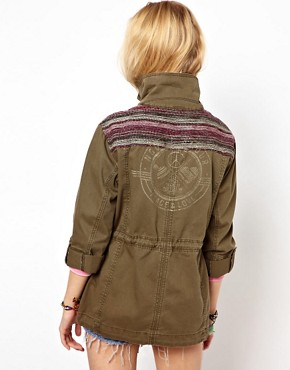 Image 2 ofRiver Island Jacquard Detail Army Jacket
