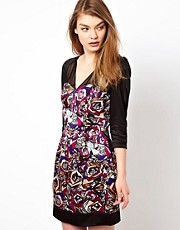 Olivia Rubin Silk Rose Print Dress