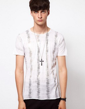 Image 1 ofUnconditional T-Shirt with Metalic Fern Print