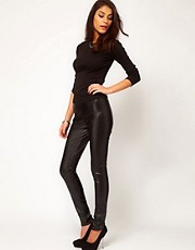 ASOS Leather Look High Shine Skinny Pant