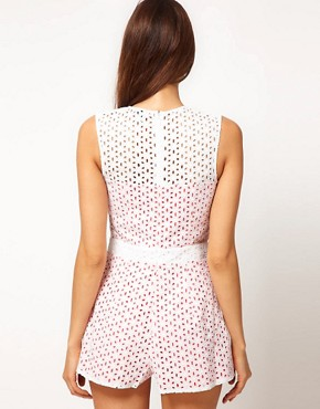 Image 2 ofASOS Playsuit In Broderie Anglaise
