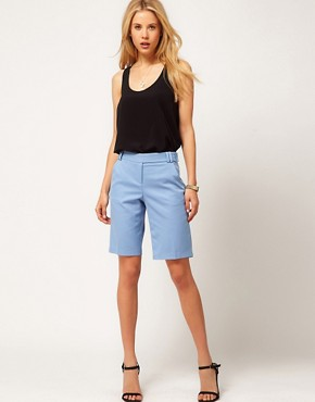 Image 1 ofASOS Smart Shorts In Longer Length