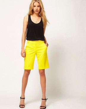 Image 1 of ASOS Smart Shorts In Longer Length