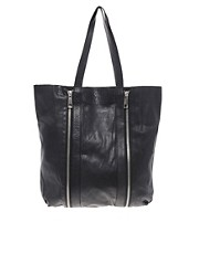 Maison Scotch Leather Shopper Bag