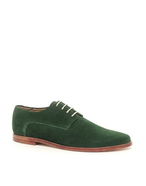 Image 1 ofASOS Suede Derby Shoes With Leather Sole