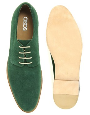 Image 3 ofASOS Suede Derby Shoes With Leather Sole