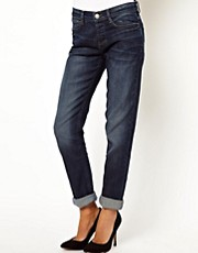 ASOS Brady Boyfriend Jeans in Dark Vintage Wash