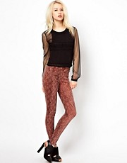 Beloved Paloma Stretch Trouser in Snakeskin Print