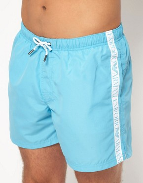 Image 1 of Emporio Armani Logo Tape Swim Shorts
