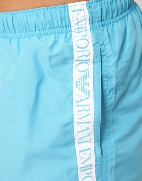 Image 3 of Emporio Armani Logo Tape Swim Shorts