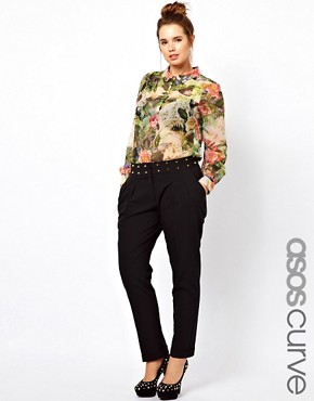 Image 1 ofASOS CURVE Exclusive Trousers With Studs