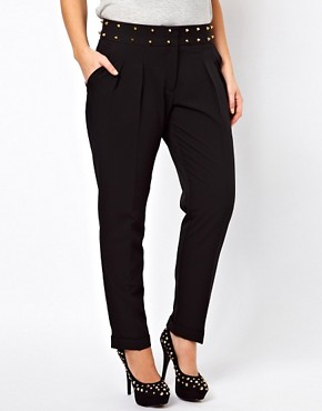 Image 4 ofASOS CURVE Exclusive Trousers With Studs