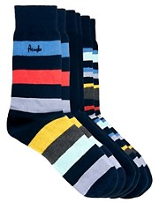 Pringle  Zig Zag  Gestreifte Socken im 3er-Pack