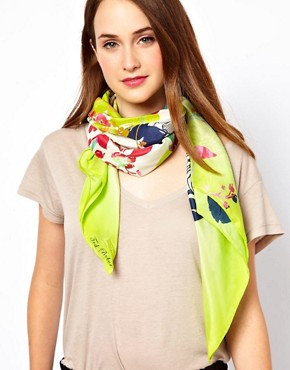 Image 1 ofTed Baker Summie Bloom Print Scarf
