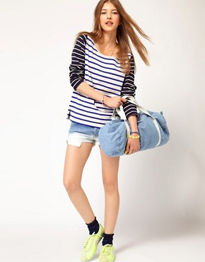 Image 4 ofMaison Scotch Bretton T-Shirt with Contrast Sleeve
