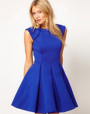 Image 1 ofTed Baker Lantern Skirt Dress