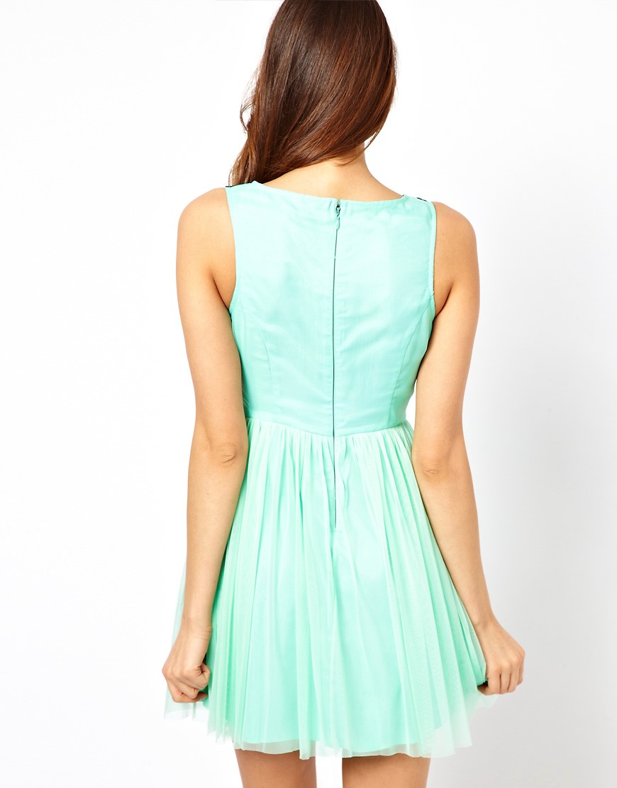 Image 2 of Lipsy Cornelli Bodice Skater Dress