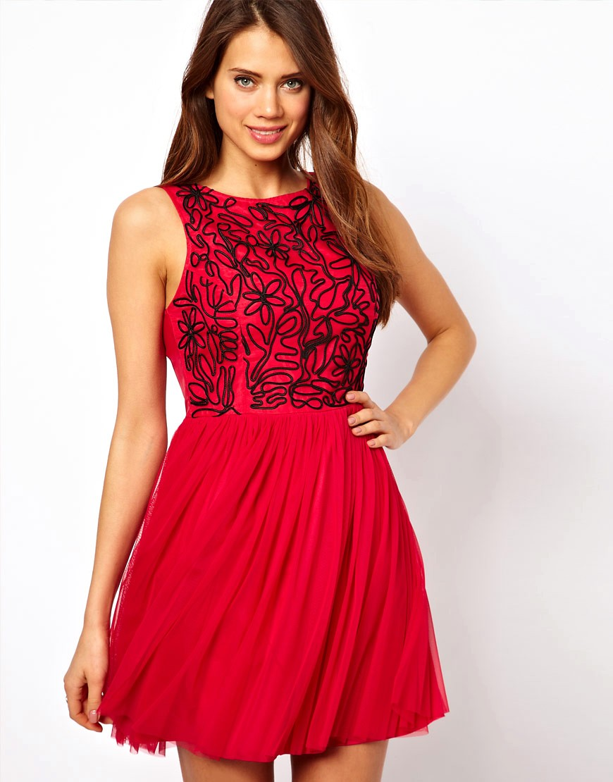 Image 1 of Lipsy Cornelli Bodice Skater Dress