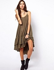 Free People Natural Habitat Dress in Crinkle Dobby Fabric