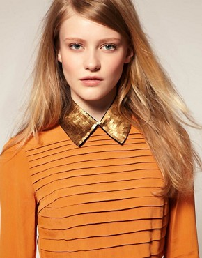 Image 1 ofASOS Gold Sequin Collar